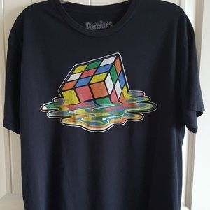 Ripple Junction Rubiks Cube Mens T Shirt